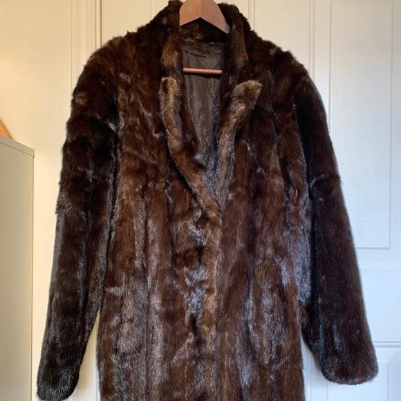 Genuine Fur Coat Size S/M